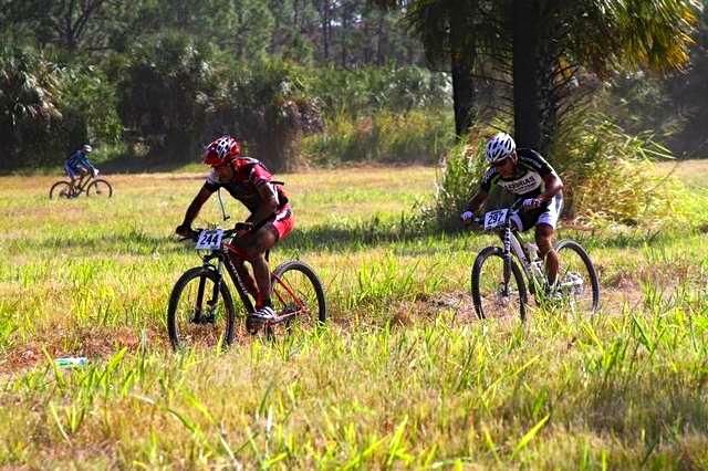 Bike race in the Caloosahatchee Park
