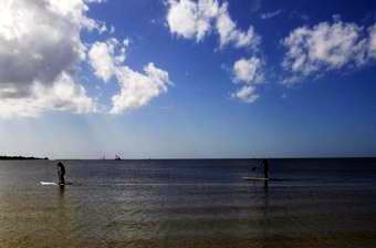 Paddleboarding by Bunche Beach  News-Post photo