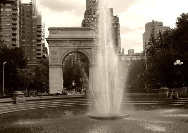 Washington Square Park. August, 2012. NYC Street Series. By Paul Goldfinger. Copyright.  Click left for full view