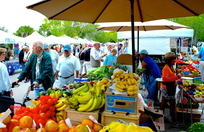 Lakes Park Farmers Market in Fort Myers near Tropicana