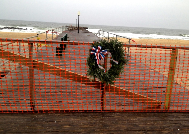 Ocean Grove Fishing Pier: A Unique Christmas  Symbol for this hurricane-battered town.